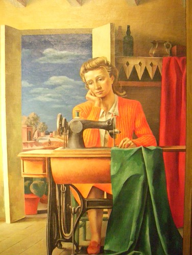 Berni Bellas Artes woman sewing