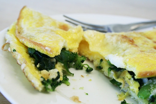 Broccoli & Spinach Omelet