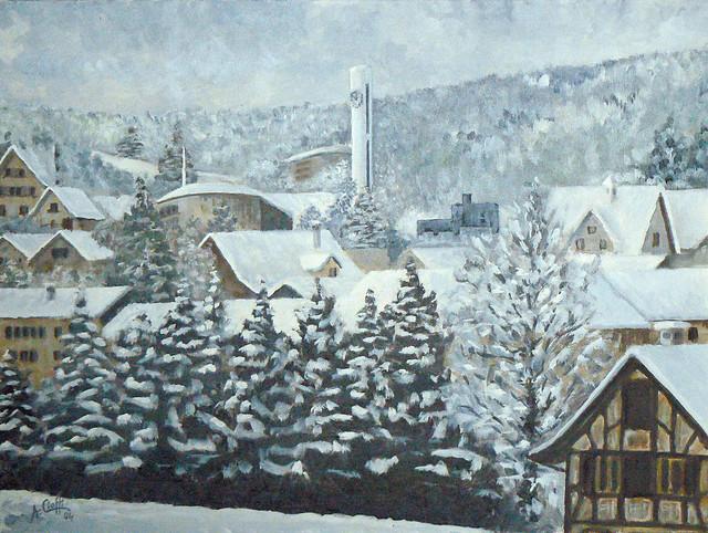 Nevicata a Schlieren