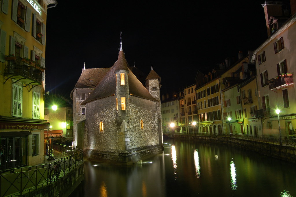 The Old Prison at night