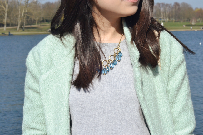 Daisybutter - UK Style and Fashion Blog: what i wore, OOTD, how to style a mint green coat, mulberry alexa rose gold