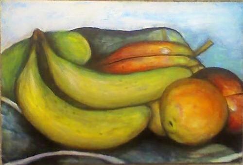 Miami Beach Tropical Fruits Original Painting