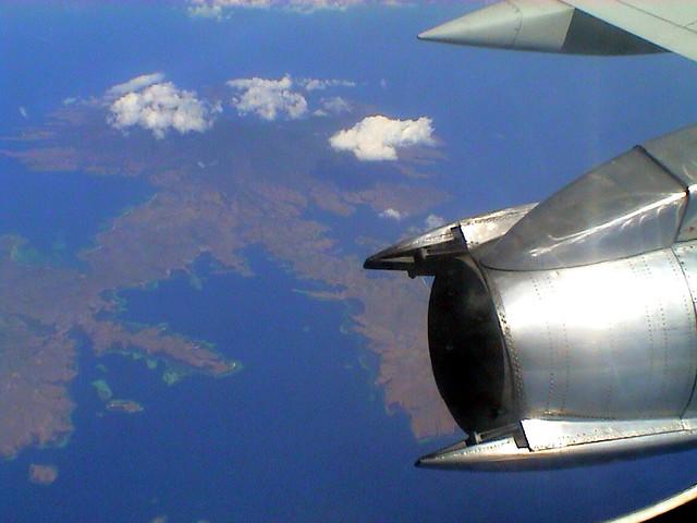 The flight from East Timor to Darwin, Australia