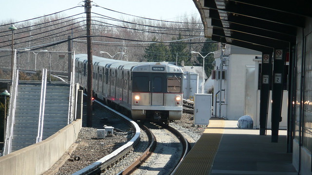 Patco train arriving in lindenwold flickr photo sharing - Bus from port authority to jersey gardens ...