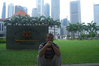 in Front of Parliament of Singapore