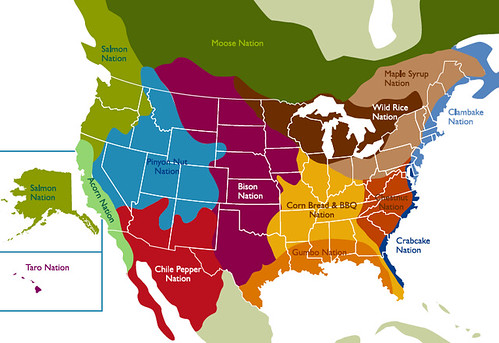On This Map Of Regional Food Traditions I Live In Acorn N Flickr
