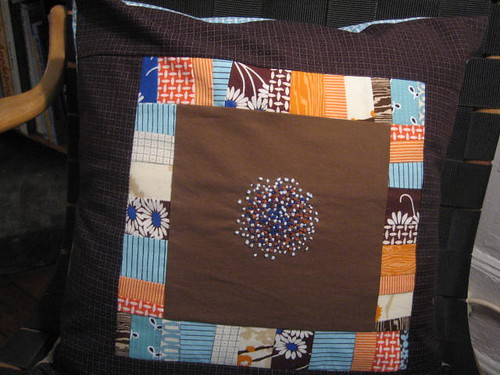 French Knot Pillow