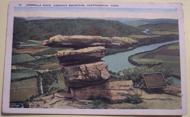 Vintage Postcard  Umbrella Rock,