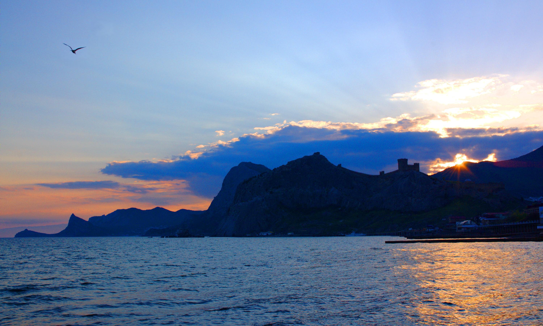Крым: Судак на закате