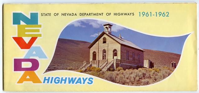 Nevada Highways 1962-1962 map