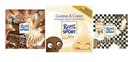 RITTER SPORT Blog-Schokolade Cookies & Cream