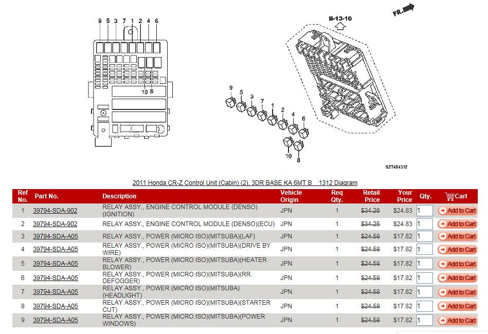 looking for under dash relay diagram honda crz forum. Black Bedroom Furniture Sets. Home Design Ideas