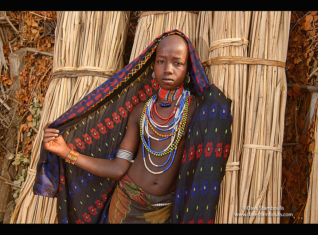 Girl Of The Arbore Tribe In The Lower Omo Valley Of Ethiop -5778