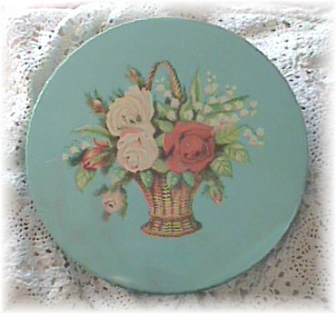 Vintage Robin's Egg Blue Tin