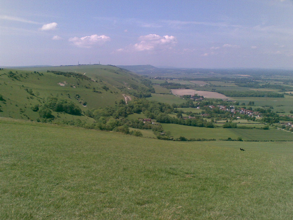 View north of the Devils Dyke Looking North West from the Devils Dyke Pub on the South Downs Escarpment.