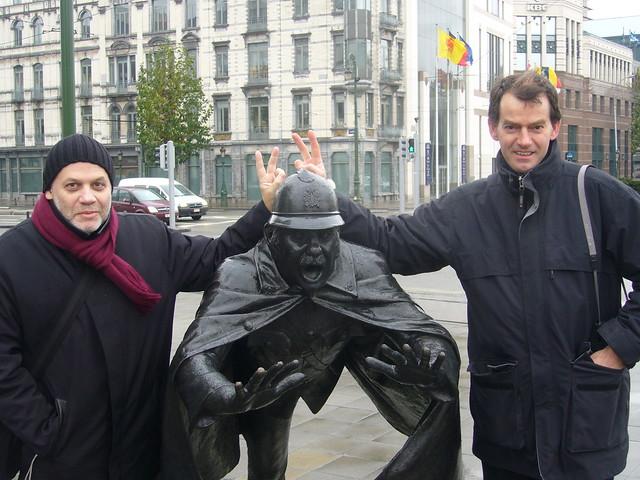 Jevgueni Bounimovitch & Henri Jacobs in Molenbeek/ à Molenbeek