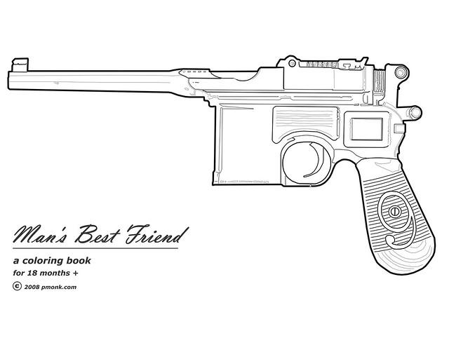 machine gun coloring pages - photo#2