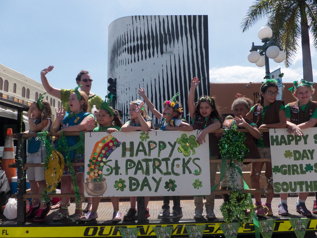 The parade St.Patrics day 2014 in Hollywood Florida