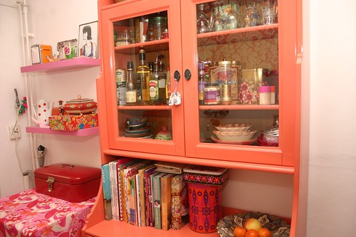 colourful kitchen cabinet