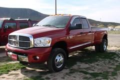 automobile(1.0), automotive exterior(1.0), pickup truck(1.0), dodge ram rumble bee(1.0), vehicle(1.0), truck(1.0), ram(1.0), bumper(1.0), land vehicle(1.0),