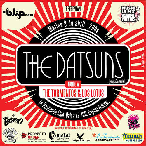 Flyer 10x10 The Datsuns