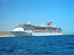 Carnival Pride anchored in Cabo San Lucas