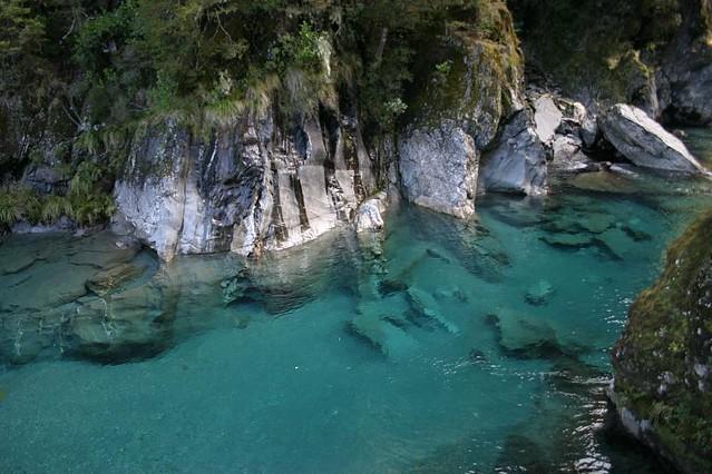The aptly named Blue Pool, near Haast Pass, NZ.