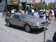 automobile, vehicle, delorean dmc-12, antique car, land vehicle, luxury vehicle, sports car,