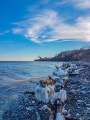 Icy Lake Erie Bluffs