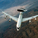 An E-3 Sentry airborne warning and control system aircraft soars over Nevada after a refueling mission during exercise Green Flag-West 13-02 at Nellis Air Force Base, Nev., Nov. 1, 2012. The aircraft is assigned to the 963rd Airborne Air Control Squadron at Tinker Air Force Base, Okla. (U.S. Air Force photo/Val Gempis)