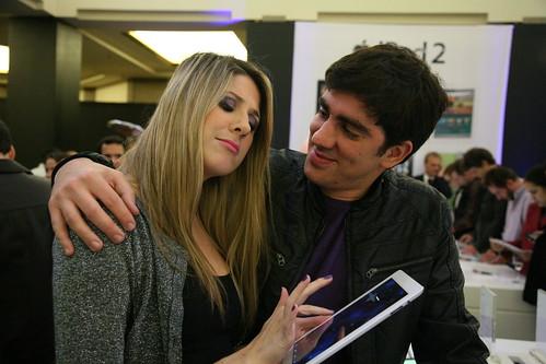 Lançamento iPad2 - Dani Calabresa e Marcelo Adnet