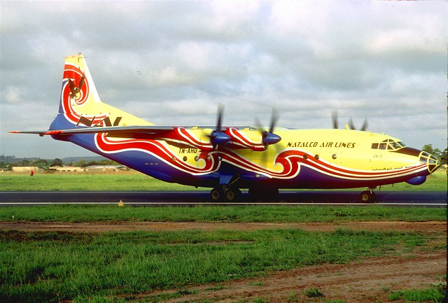 Natalco Airlines, Antonov An.12, TN-AHD PNR (photo Jacques Guillem)