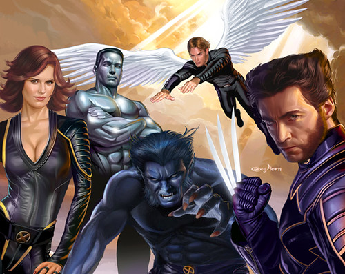 X-men_Woverine_Beast_Angel_Colossus