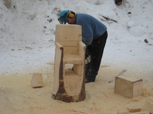 Chainsaw carving chair flickr photo sharing