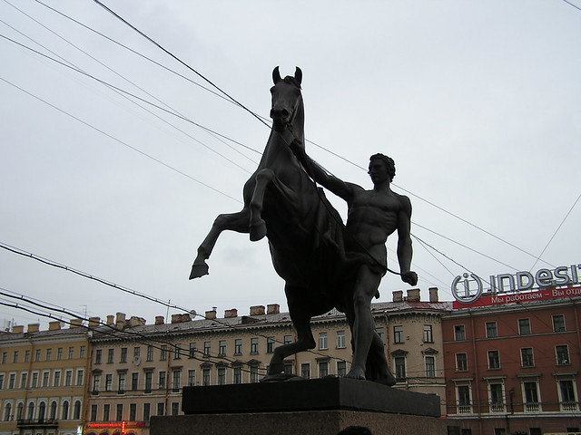 Bronze Statue on Anichkov Bridge #1