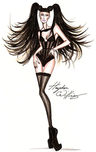 Lady Gaga fashion illustration by Hayden Williams