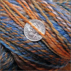 October Sky yarn, close-up
