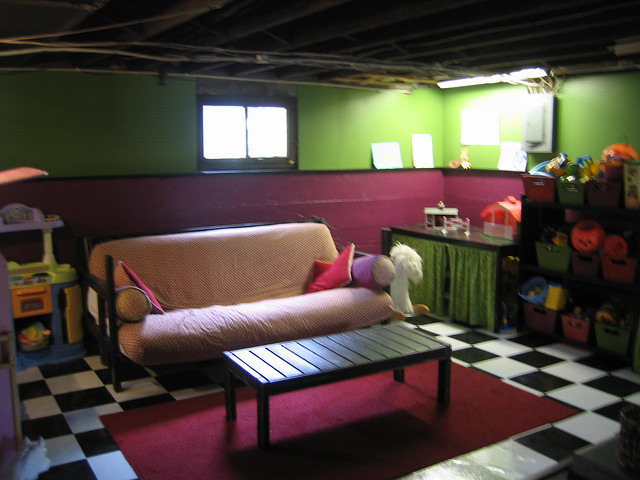 partially finished basement playroom flickr photo sharing