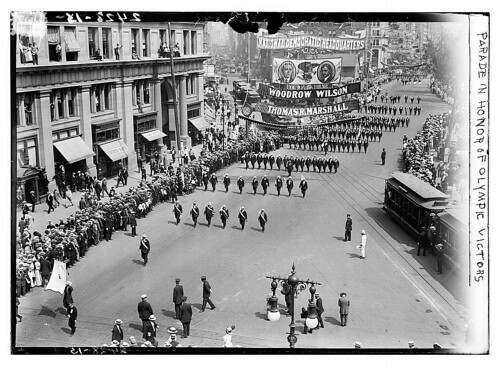 Parade in honor of Olympic victors  (LOC)