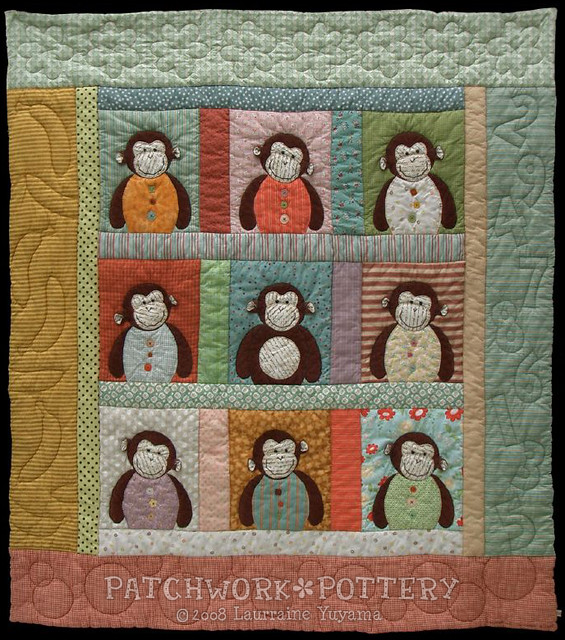 Monkey Quilt 2 The pattern for my Monkey Quilt is publishe? Flickr - Photo Sharing!