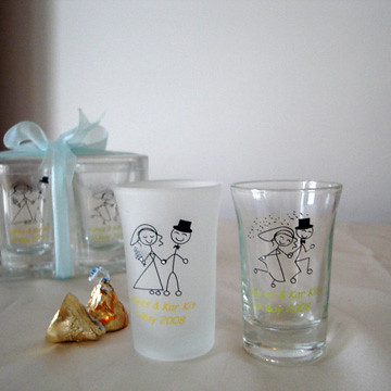 personalized shot glass wedding favors personalized favors