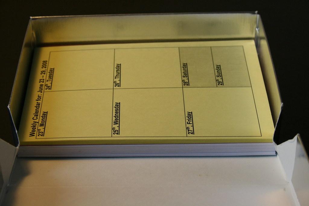 preprinted card planner templates