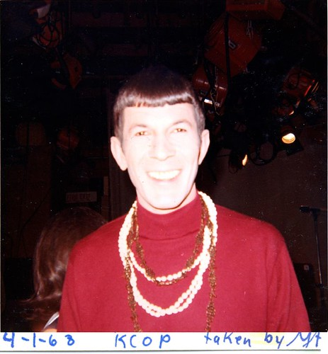 Leonard Nimoy between takes