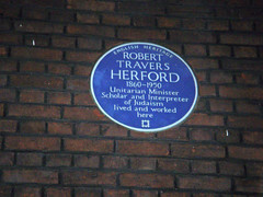 Photo of R. Travers Herford blue plaque