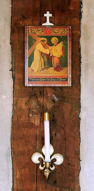 Holy Family Roman Catholic Log Church, in Cahokia, Illinois, USA - station of the cross.jpg