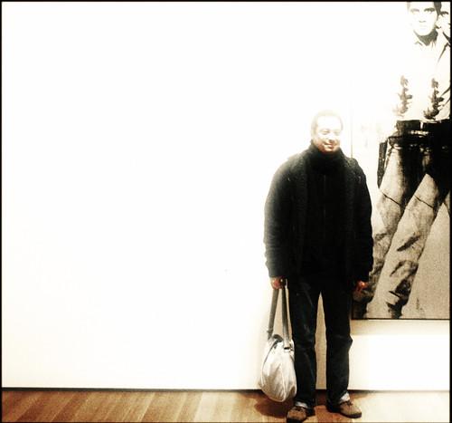 Man with Warhol's Elvis at the MoMA, 2007 by Juli Kearns (Idyllopus)
