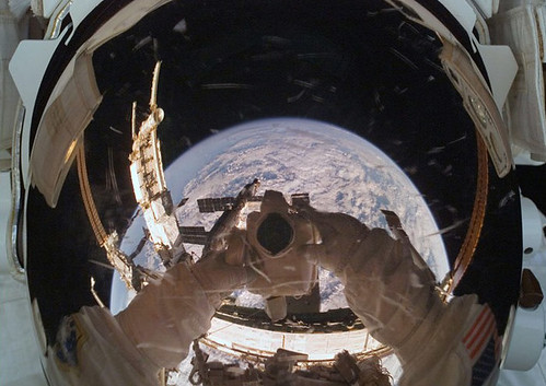 Astronaut Self-shot Over Earth