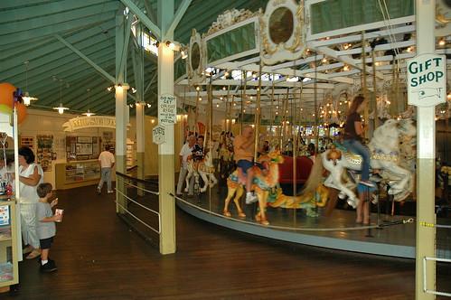 Inside carousel, Crescent Park, E. Providence by dadofliz via I {heart} Rhody