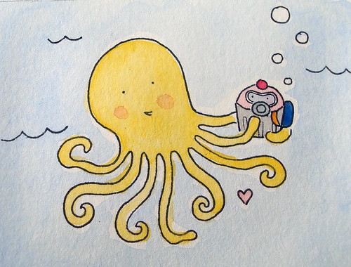 Octopus with scuba cuppie