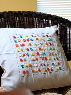 Craft buttons pillow